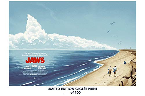 RARE POSTER steven spielberg JAWS movie 1975 classic REPRINT