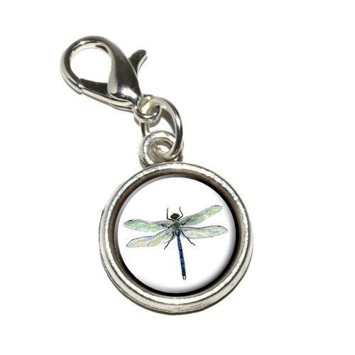 Graphics and More Dragonfly Antiqued Bracelet Pendant Zipper Pull Charm with Lobster Clasp