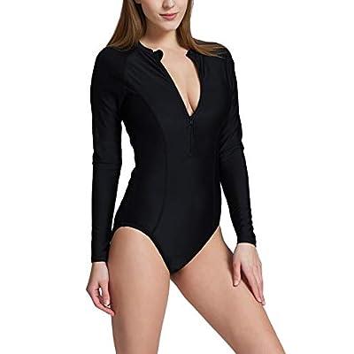 BALEAF Women's Long Sleeve One Piece Sun Protection Rash Guard Rashguard UPF 50+ Wetsuit Swimsuit at Women's Clothing store