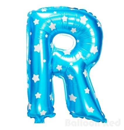16 Inch Foil Mylar Balloons for Party Wall Decoration (Premium Quality, Non-Floatable), Blue Stars, Letter (Halloween Costumes That R Easy)