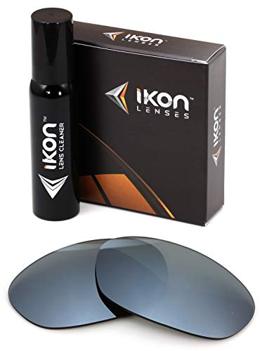 Polarized IKON Replacement Lenses for Ray Ban RB2027 Predator 2 Sunglasses - Silver ()