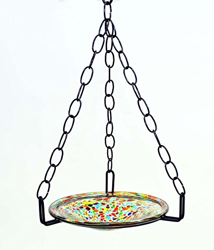Small Hanging Bird Feeder with Confetti bowl-16 Inches High by 8-10 Inches Wide.