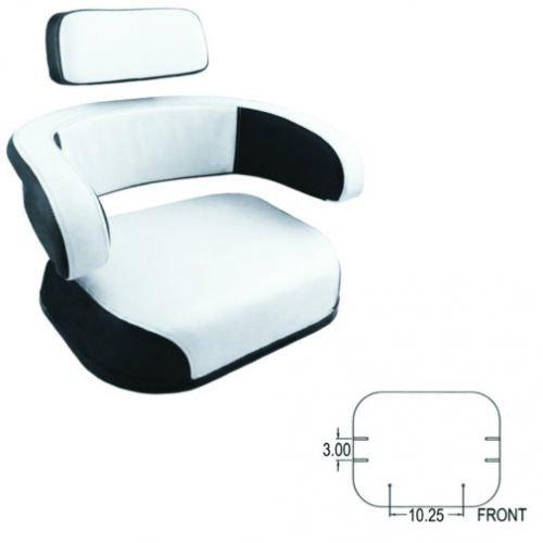 Seat Cushion Set 3 Piece Vinyl White/Black International 1066 706 966 766 856 1466 756 826 806 656 1566 544 Hydro 100 1468 1456 1256 1206 504 666 1568 686 2706 Hydro 70 2856 Hydro 86 2756 2826 2806 by All States Ag Parts