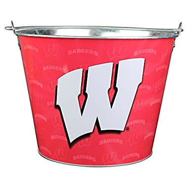 Collegiate Full Color Beer Buckets (Holds 5+ Beers and Ice) - Wisconsin Badgers