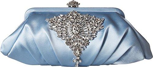 Lined Silk Clutch - Badgley Mischka Women's Gem Clutch Light Blue One Size