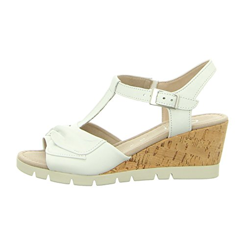 Gabor Women Sandals White, (Weiss (Kork)) 82.843.50 Weiss (Kork)