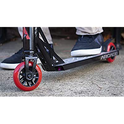 Arcade Pro Scooters - Stunt Scooter for Kids 8 Years and Up - Perfect for Beginners Boys and Girls - Best Trick Scooter for BMX Freestyle Tricks (Black/Red): Sports & Outdoors