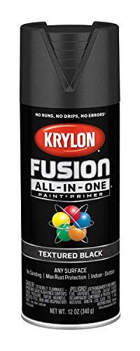 (Krylon K02776007 Fusion All-in-One Spray Paint, Black)