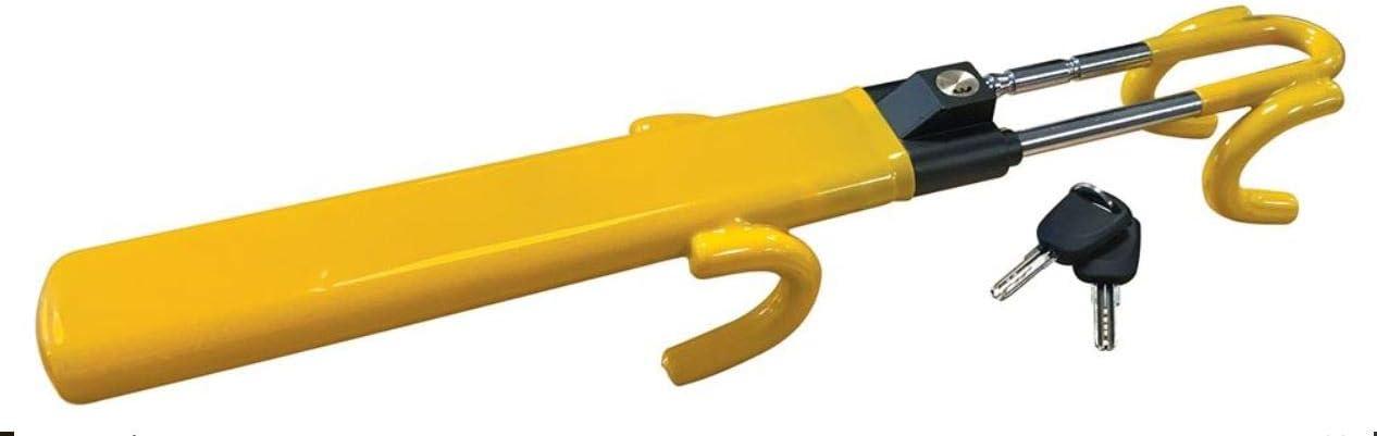 UKB4C Heavy Duty Steering Wheel Lock High Security Anti Theft Twin Bar Hook for BMW Mini Cooper Countryman Hatch Paceman