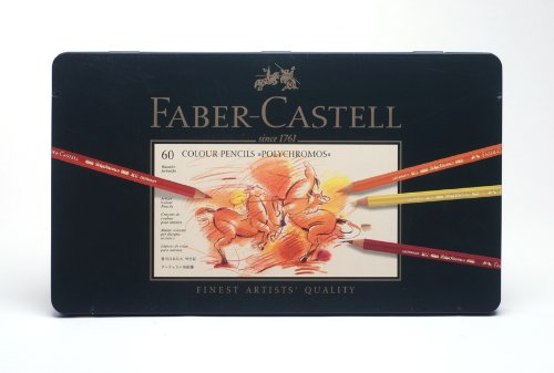 Faber-Castell Polychromos Artists' Color Pencils - Tin of 60 Colors - Premium Quality Artist Pencils by Faber-Castell (Image #1)
