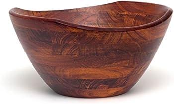 Lipper Wavy Rim Large Wooden Bowl (Cherry)
