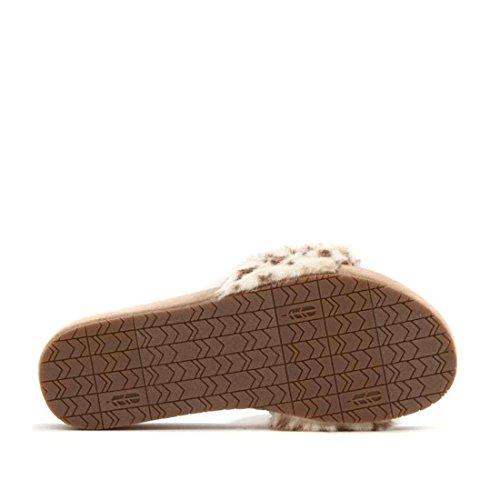 Revitalign Luchtige Namaakbont Pantoffel 572-421 Zwarte Kers