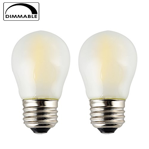 4w Mini (OPALRAY 4W Dimmable A15 Mini LED Globe Bulb with Filament LED Tungsten, Frosted Glass, E26 Normal Base, Natural White 4000K(Daylight), 400Lumens, 40W Incandescent Replacement (Pack of 2))