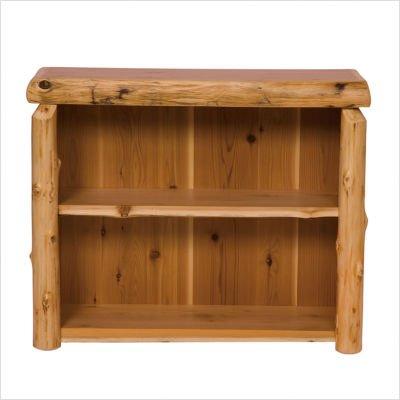 Fireside Lodge Furniture Cedar Hand Crafted Cedar Log Medium Bookshelf, With Four Shelves, Traditional - Lodge Bedroom Furniture