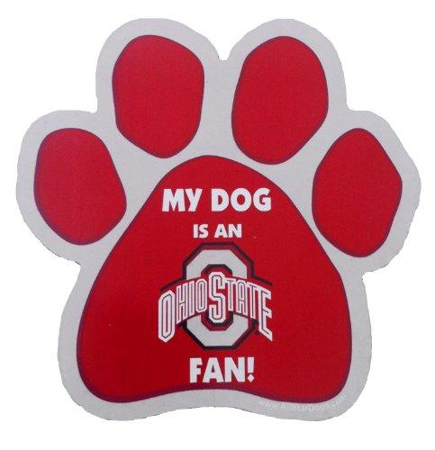 Ohio State Buckeyes Print (NCAA Ohio State Buckeyes Paw Print Car Magnet)