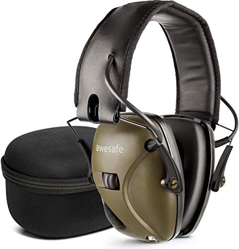 awesafe Electronic Shooting Earmuff Storage Carrying Noise Reduction Sound Amplification Electronic Safety Ear Muffs product image