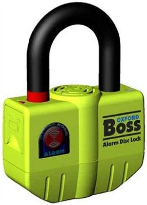 OXFORD BIG BOSS ULTRA STRONG MOTORBIKE MOTORCYCLE DISC LOCK WITH 100DB ALARM by Oxford