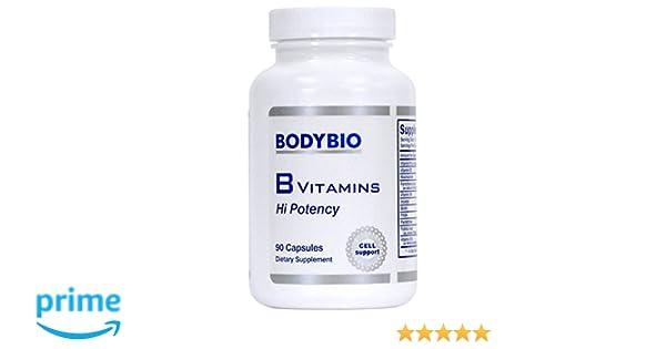 Amazon.com: BodyBio - B Vitamins Hi Potency, 90 Capsules: Health & Personal Care