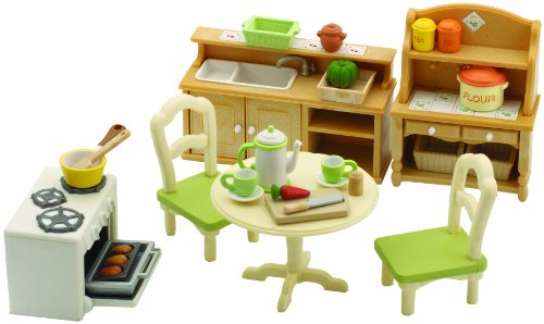 Sylvanian Families Country Kitchen Set Co Uk Toys Games