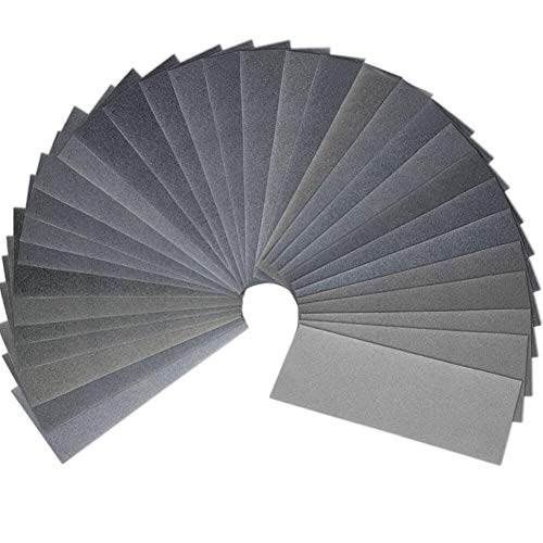 120 to 7000 Grit Wet Dry Sandpaper Assortment 9 x 3.6 Inches for Automotive Auto Wood Sanding by -