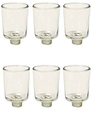 Clear Glass Votive Candle Holder Cups With peg Bottoms Ima Brass