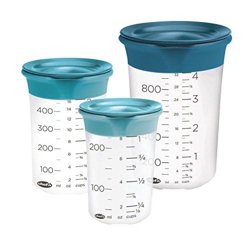 - Chef'n 102-918-268 EMW6504302 SleekStor Pinch + Pour, Set of 3, Clear