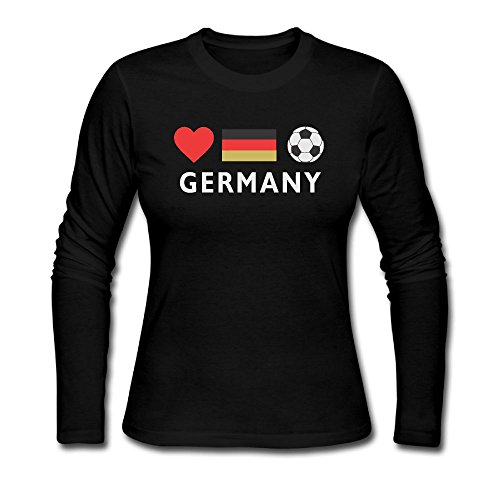 Germany Football German Soccer Autumn Custom Women's Cool Long Sleeve - Usps Germany To Shipping