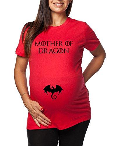 Ideale Di Idea Game Trono Of Da Lunga Premaman Per Mothers Regalo Serie Rosso Thrones Tv Dragon Tshirt Il Donna Spade qOtTn7F