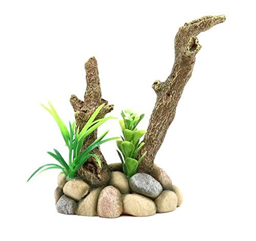 9x7x14cm Aquarium Decoration Rockery Welcoming Pine Water Grass Aquarium Landscaping Simulation Tree Root Sinking Wood Ornaments