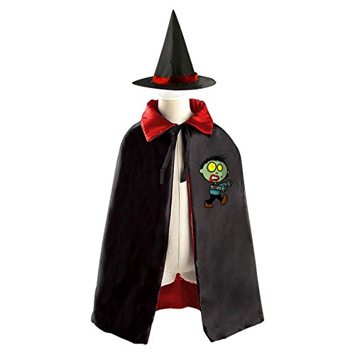 Green Lantern Costumes Pattern (Green k Vampire Boy Kids Halloween Party Costume Cloak Wizard Witch Cape With Hat Set)