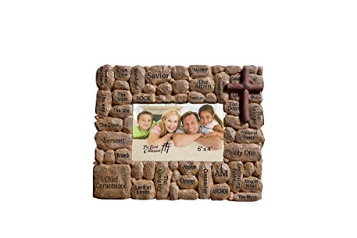 The Faith Collection FC-1418 Resin Stone Names Of Jesus Frame, 6'' x 4'' by Faith Collection