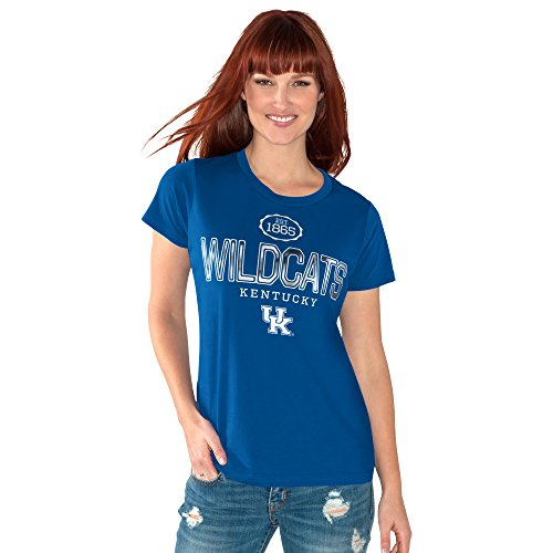 - GIII For Her NCAA Kentucky Wildcats Women's Round The Bases Short Sleeve Tee, X-Large, Royal