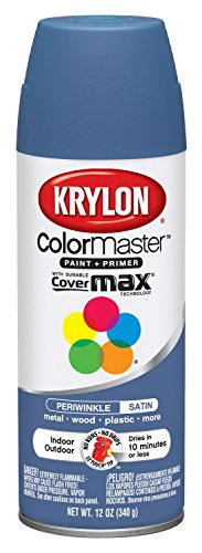 Krylon K05352402 Periwinkle 'Satin Touch' Decorator Spray Paint - 12 oz. Aerosol