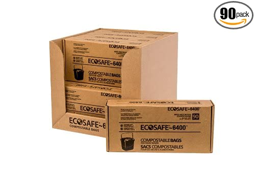 Amazon.com: EcoSafe-6400 CP1617-6 Compostable Bag, Certified ...