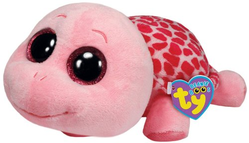 Peek A-boo Turtle - Ty Beanie Boos Myrtle Turtle Plush, Pink, Medium