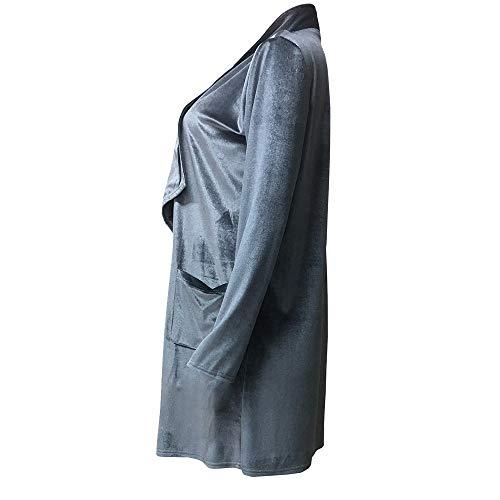 Shobdw Capuche Manteau Gris Velours Femme nbsp; Ouvert Veste Tops Sweatshirt De Hoodie Casual Mode Cardigan Hiver Pullover Blouse Blouson Chaud À 6rrfw