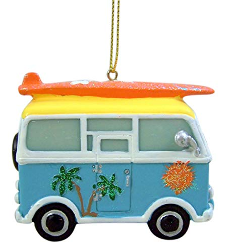Beach Themed Christmas Ornaments Wowser Tropical Beach Theme Hippy Van with Surfboard Hanging Christmas Tree Ornament, 3 1/2 Inch beach themed christmas ornaments