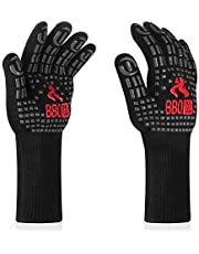 INKBIRD BBQ Grill Gloves 1472℉ Extreme Heat Resistant Grilling Gloves Non-Slip Silicone Insulated Grill Mitts for Cooking,Baking,Grill,Welding,Smoker, 14inch