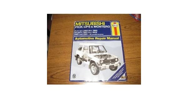 Mitsubishi Pick-ups and Montero Automotive Repair Manual Haynes Automotive Repair Manuals: Amazon.es: Larry Warren, etc.: Libros en idiomas extranjeros