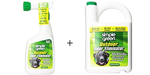 Simple Green Outdoor Odor Eliminator For Pets, Dogs, 32 Ounce Trigger (432107) and 1 Gallon (432108) Refill - Non-Toxic, Ideal for Artificial Lawns & Patio