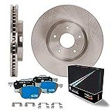 Max Brakes Rear OE Series Rotors w/M1 Brake Pads Supreme Brake Kit KM088042 | Fits: 2004 04 Subaru Legacy