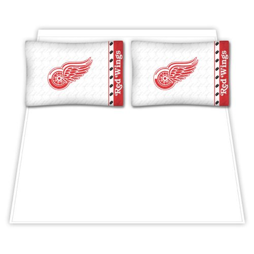 NHL Detroit Red Wings Micro Fiber Sheet Set (Queen) - Queen Wing