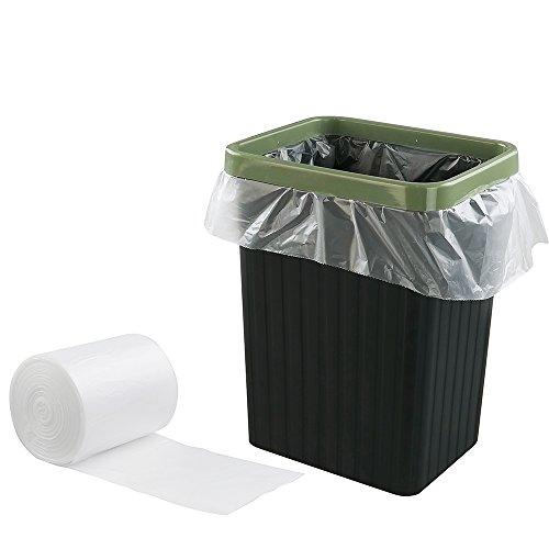 Idomy 1.2 Gallon Heavy Duty Wastebasket Liners, Clear, 100 Counts
