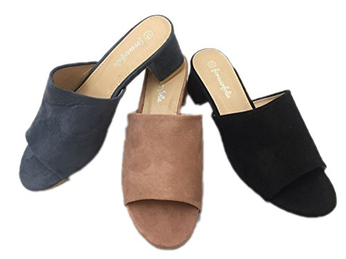 Parzel - Sandalias de vestir de ante para mujer Azul