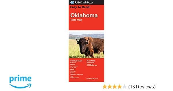 Easy To Read Oklahoma Rand Mcnally State Maps Rand Mcnally