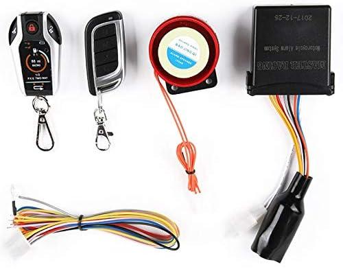 ACAMPTAR 2 Bi-Directionnel Syst/ème Dalarme de Moto Scooter Anti-Vol Alarme Cambriolage D/émarrage du Moteur /à Distance Arr/êt Localiser D/ésarmement durgence