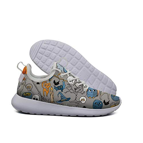 Eoyles gy Special Halloween Symbols Woman Slip Resistant Lightweight Running Sports Shoes -
