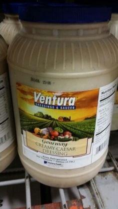 Ventura Creamy Caesar Dressing 1 Gal (2 Pack) by Ventura