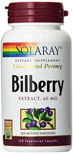 Solaray Bilberry Extract, 60 mg, 120 (Solaray Bilberry Extract)
