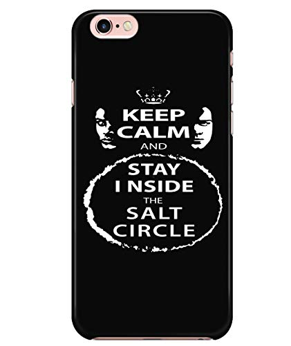 iPhone 6/6s Case, Stay Inside The Salt Circle Case for Apple iPhone 6/6s, Supernatural Winchester iPhone Case (iPhone 6/6s Case - Black)